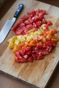 Tomato Bread Salad with Watercress Salsa Verde